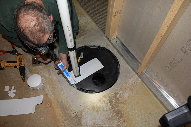 Hydraulic Pump Basement : Radon mitigation photos of remediation system