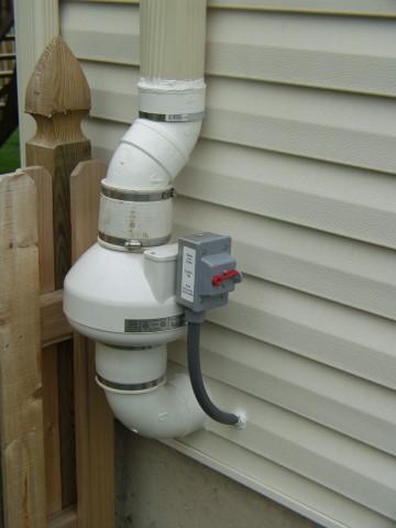 Radon Fan Replacement Using Fan By Pass Drain For Radon