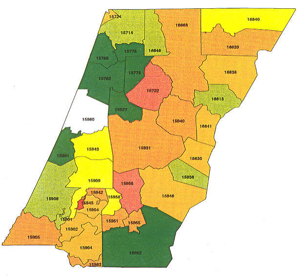 Pennsylvania Radon Map, Bucks county radon, Northampton county radon on radon levels, francium map of pa, highest radon in pa, air quality map of pa, radon test kit target, silver map of pa,
