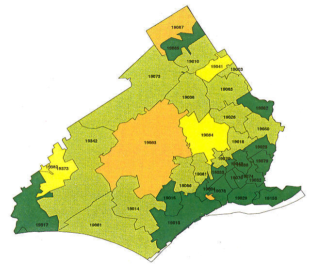 Delaware County Pa Zip Code Map  Rachael Edwards