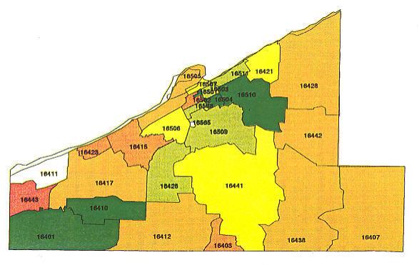Erie Pa Zip Code Map  Zip Code Map