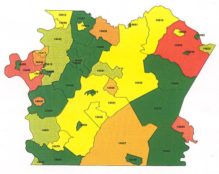 Chester County Pa Zip Code Map | autobedrijfmaatje on