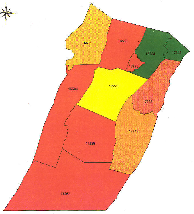 Pennsylvania Radon Map Bucks County Radon Northampton County Radon